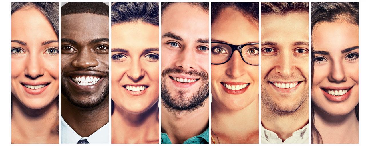 Gesichterkollage Jobs und Karriere