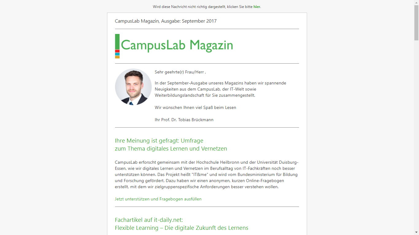 Screenshot CampusLab Magazin 2017