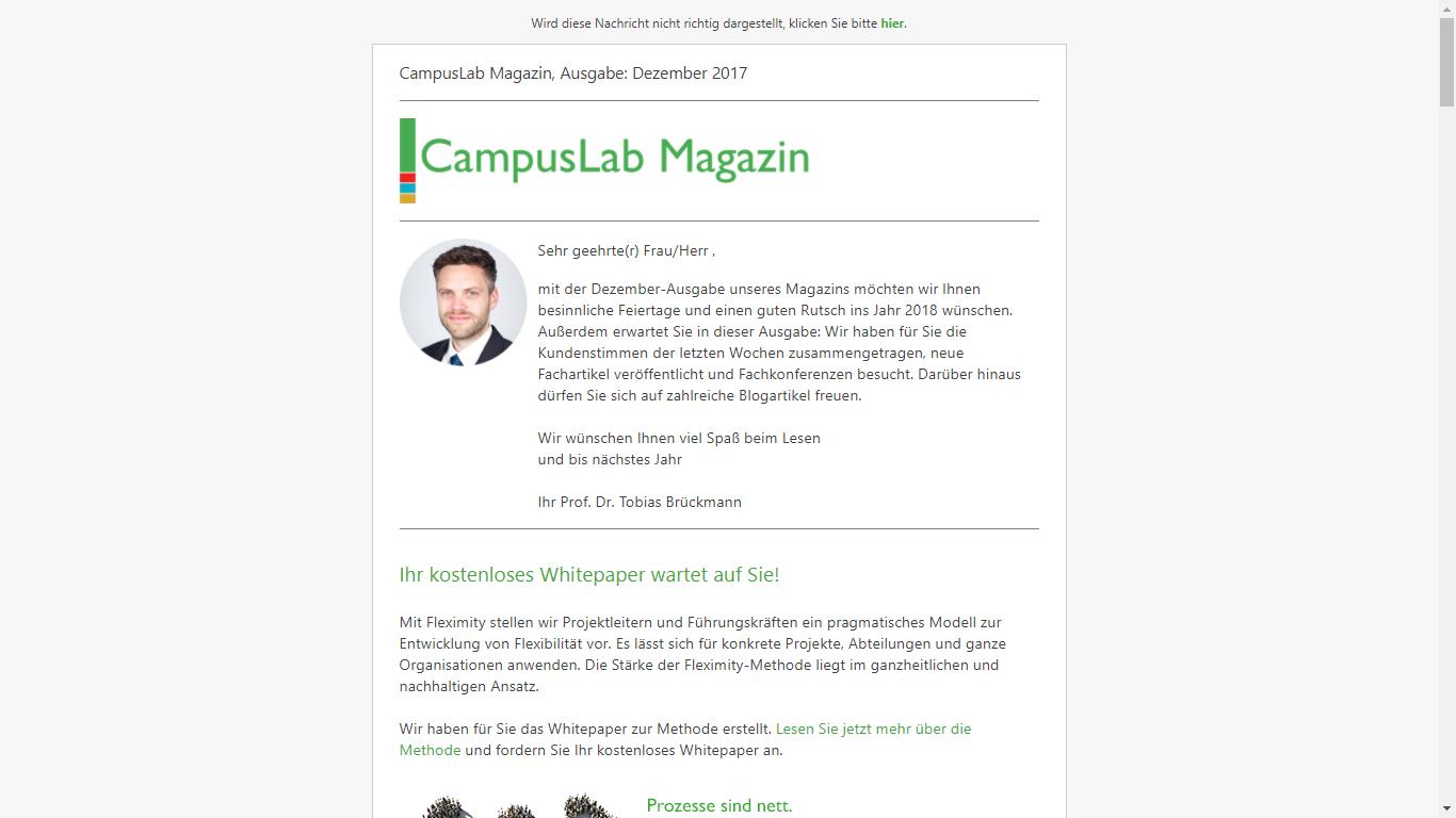 CampusLab Magazin Screenshot