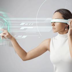Das ultimative Medium: Frau nutzt futuristische Technologie